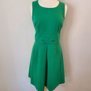Boden Green Sleeveless Mod Dress